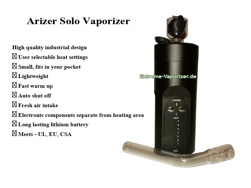 Solo Vaporizer mit Preview Text